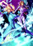 Samus and princess Zelda -zero suit FANART :D by xdtopsu01