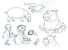 Draw Hippos by Diana-Huang