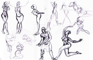figure drawings more! by 24movements