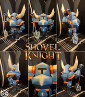 Yacht Club Games Papercraft ~ Shovel Knight ~ by SuperRetroBro