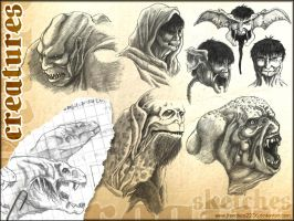 More creatures - Scketches by francisco2236