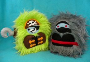 Pirate and Ninja yetis by loveandasandwich