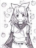 Rin Kagamine doodling :3 by ChinekoChan