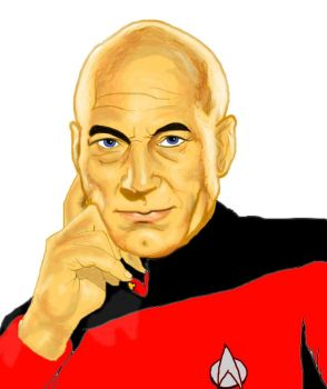 Picard Unfinished by kittypizzadude