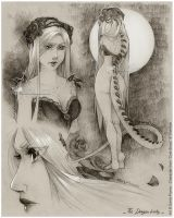 :Gift: The Dragon Lady -Sketches- by Doria-Plume