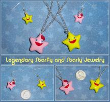 Starfy and Starly Charm Jewelry by YellerCrakka