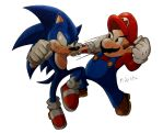 Mario Vs Sonic by MikeES