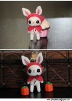 Needle Felted White Bunny by TheHeartofJapan