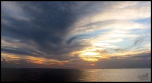 Sunset on the Atlantic Ocean by WALLYLOPEZ