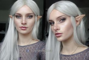 Elvish makeup look by AlysonTabbitha