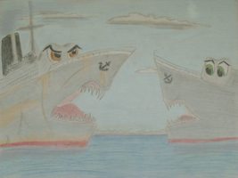 H.M.S TEMPESTUOUS and H.M.S FEARLESS by RMS-OLYMPIC