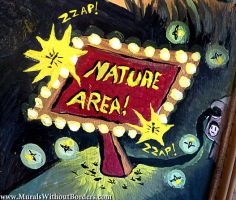 Detail - Faux Nature Area by MuralsWithoutBorders