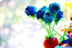 Origami Blue Roses by lisadeng