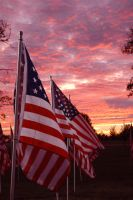 american flag by MrDul