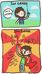 Random Comic No.1: Wizard by geothebio
