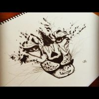(WIP) Freestyle Ink Work - Tigr by Chriox