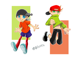 Kevin and Edd_Jump by aulauly7