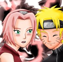 Naruto and Sakura by Kaschra