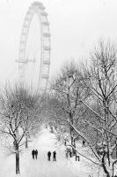 Snowy London by Mohain