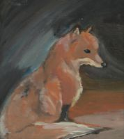 Fox Acrylic Painting by celo99