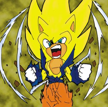 Coloring Super Sonic DBZ Style by Dairon11