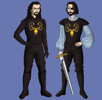 Victarion and Euron by alcanis-ivennil