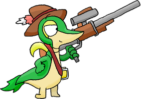 END Sniper Snivy (Outdated) by TheGuyNoOneRemembers