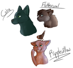 Old Character Headshots by bambifawnluv