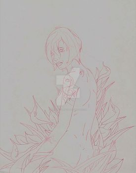 Flowers sketch by King-Nothin243