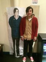 Frank Iero and my real life sized drawing of him by EvaFaithHorror