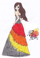 Katniss the girl on fire by Ariichen
