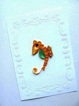 Aug.07, Seahorse in Quilling by eidatwong