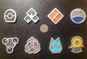 Sinnoh Gym Badges by PKMNTrainerLarfleeze