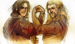 Fili and Kili by Blanca-J-E