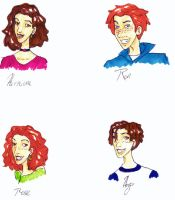 Weasley Family- Herm and Ron by Gothicthundra