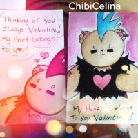PUNK BEAR by ChibiCelina Valentine's Day Cards by ChibiCelina