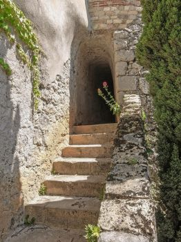 Ariege 041 - Arch Door and Stairs by HermitCrabStock