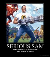 Serious Sam poster by Shiga95