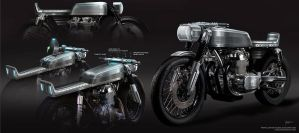 Cafe Racer_Tank design_Tech Integration by cgfelker