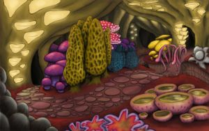 Fungus Cave by dolldivine