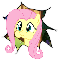 Fluttershy Through The 4th Wall by Faultekaiser