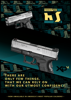 HS Produkt XD - logo/gun poster by model850