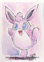 Watercolor Wigglytuff by Kikulina