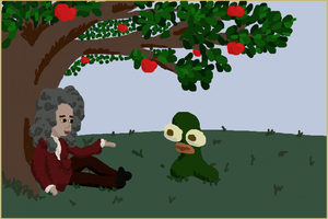 Sir Isaac Newton and Cukeman by exintrovert