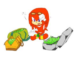 knuckles who travels by mas2a