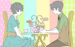pastel tea party by Usato