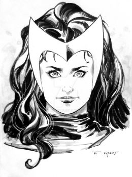 Scarlet Witch - SDCC Sketch, 2016 by aethibert