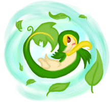 495 - Snivy .:Leaf Tornado:. by Mathis-Rose
