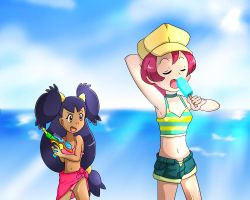 Iris and Langley at the beach by LadyK