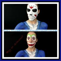 H2O Delirious GTAV mask and face paint by MaoMaoz